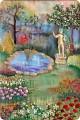Картина панно рисунок Батик Вышивка Рисование и живопись Объёмные картины вышивка гладью Акварель Нитки Ткань фото 1.
