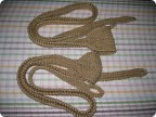 Вязание крючком - праща, связанная крючком из шпагата Вязание крючком - праща, связанная крючком из шпагата.