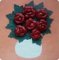 Картина, панно, Мастер-класс Аппликация: Розы из кожи + МК Клей, Кожа...