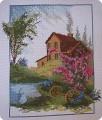 Картина панно рисунок Вышивка крестом ДОМ МОЕЙ МЕЧТЫ + схема и ключ Канва Нитки фото 1.