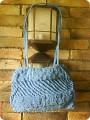 ...спицами, Макраме, Шитьё: Летняя сумочка из сутажа Тесьма, Ткань.