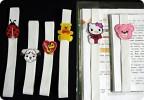 2. Техника: Аппликация 1. Ну вот, сделала, наконец, дочке закладки в учебники.  Очень понравилась идея.