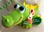 28. Игрушка, Куклы. Вязаные авторские игрушки: Крокодильчики. Алла Бакиновская