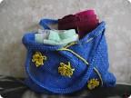 Гардероб Вязание крючком: Пляжная сумочка из мусорных мешков Полиэтилен.