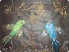 Поделка из перьев попугая своими руками