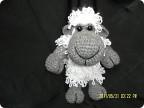 Игрушка Вязание: овечка крючком Нитки Дебют.  Фото 1.