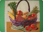 Корзина с овощами поделка 89