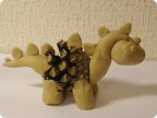 Поделки из пластилина и шишек динозавр 94