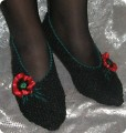 ...как связать такие носки-подследники спицами,владея лишь азами вязания(достаточно уметь вязать платочной вязкой!