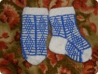 Вязание спицами для детей от 1 до 3 лет для девочек носочки 88