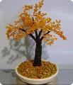 """Дерево из бисера  """"Осенний клён """" Бисероплетение."""