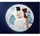 Открытка Новый год Аппликация Аппликация из бисера Снеговичок Бисер.