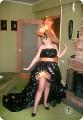 Платье из подручных материалов из мусорных пакетов.