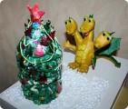 Поделка, изделие Лепка: Готовимся к году дракона Пластилин Новый год.