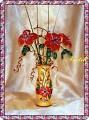 Поделка изделие Бисероплетение ваза с цветами бисер Бисер фото 1.