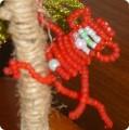Поделка изделие Бисероплетение обезьяна Бисер.