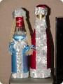 Бутылки на новый год своими руками мастер класс