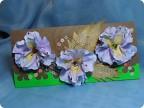 2..цветы из акварельной бумаги...изготовлены по выкройке от тряпичных цветочков.затонированы акварельным...