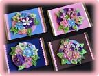 Аппликации на картоне цветы из страны