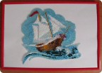 Картина панно рисунок Вышивка Парусник вышивка бисером Бисер Бумага Картон фото 1.