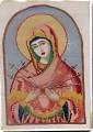 Вышивка крестом - Икона Святой Богородицы Семистрельная Схема.