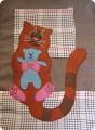 Аппликация из ткани своими руками кот