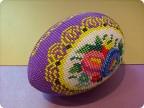 Оберег Поделка изделие Пасха Бисероплетение Яйцо сувенирное Цветочный медальон Бисер.