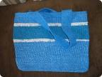 Поделка изделие Вязание крючком пляжная сумка из мешков для мусора Полиэтилен.  Создать новую учетную запись...