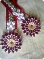 Цветы на шторы своими руками из атласных лент
