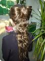 Плетение - Прическа к 1 сентября Бант из волос.