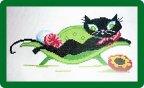 Лиза увлеклась вышивкой часто она вышивает крестиком по канве