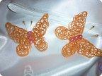 Бабочки из ниток мастер класс