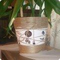 Кашпо из шпагата своими руками для комнатных цветов 33