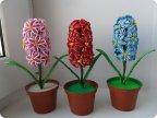 Цветы из бисера гиацинт мастер класс с пошаговым фото для начинающих схема