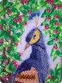 Картина панно рисунок Цумами Канзаши Павлин Канзаши Ленты фото 1.