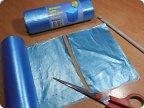 Поделка изделие Вязание крючком Вязание спицами Макраме Веревочки из мешков для мусора фото 1.