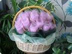 Цветы из органзы с конфетами своими руками