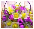 Корзинка с цветами своими руками из гофрированной бумаги