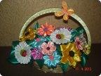 Фото поделок с цветами канзаши