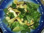 Теплый салат с кабачками болгарским перцем
