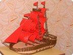 Кораблик из трубочек своими руками пошаговая инструкция