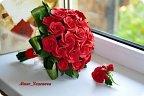 Букет из красных роз своими руками фото