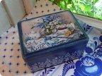 Чайная коробка в голубых тонах Страна Мастеров