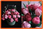 Тюльпаны из гофрированной бумаги 176