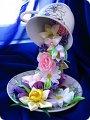 Парящая чашка с цветами своими руками фото