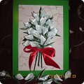 Картина панно рисунок Цумами Канзаши белые каллы Ленты фото 1.