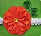 Как сделать плоский цветок из бумаги