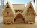 Деревянные поделки домики 40