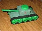Как сделать танк в детский сад