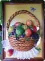 Поделки из теста корзина с фруктами